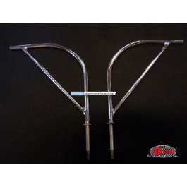 Harp mirror arms, stainless steel (pair) - Typ 2, 55>67