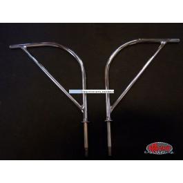 Harp mirror arms, stainless steel (pair) - Typ 2, 55>67