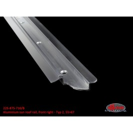 Aluminum sun roof rail, front right - Typ 2, 55>67