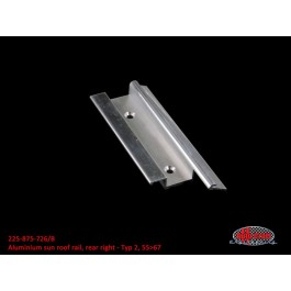Aluminum sun roof rail rear right - Typ 2, 55>67