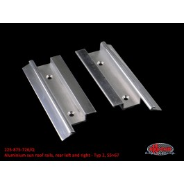 Aluminium sun roof rails, rear left and right - Typ 2, 55>67
